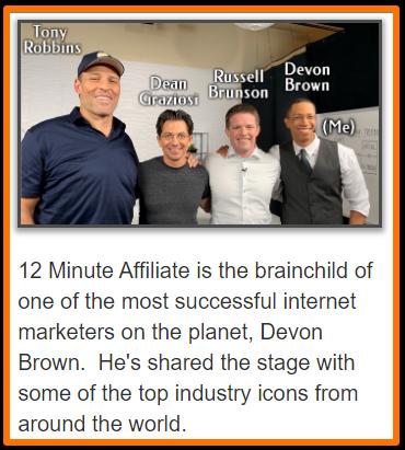 Devon Brown Russell Brunson Dean Graziosi Tony Robbins