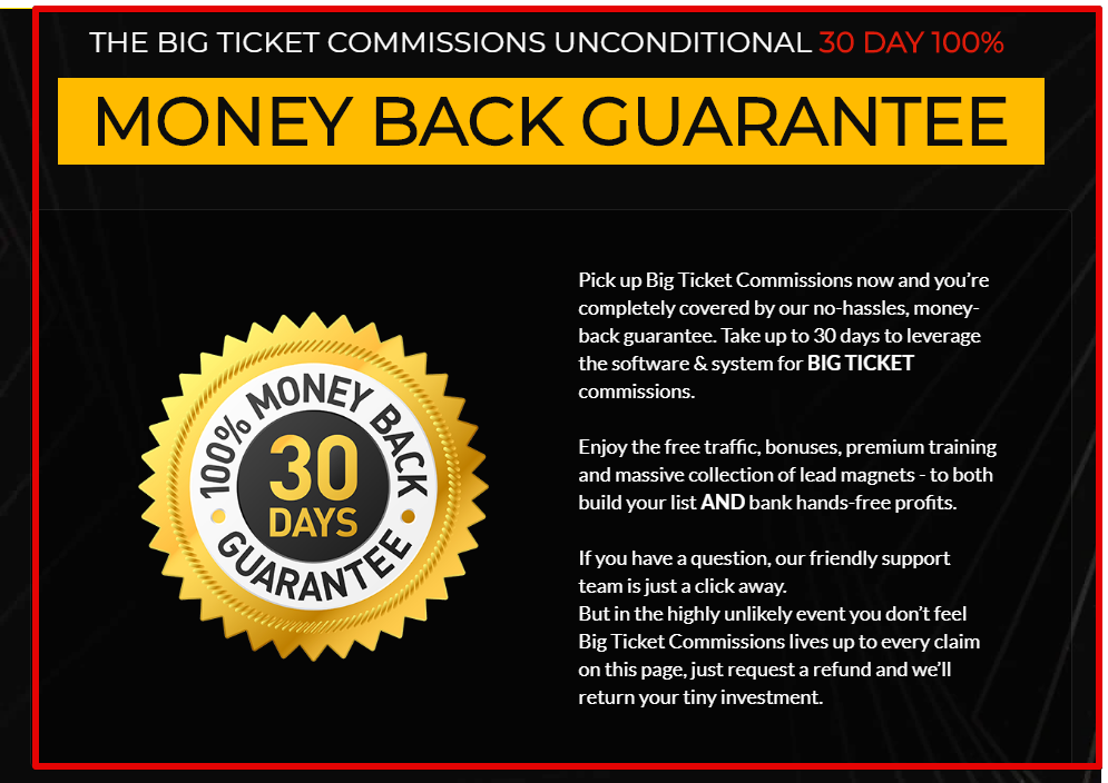 Big Ticket Commissions