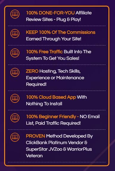 CB Profit Sites features