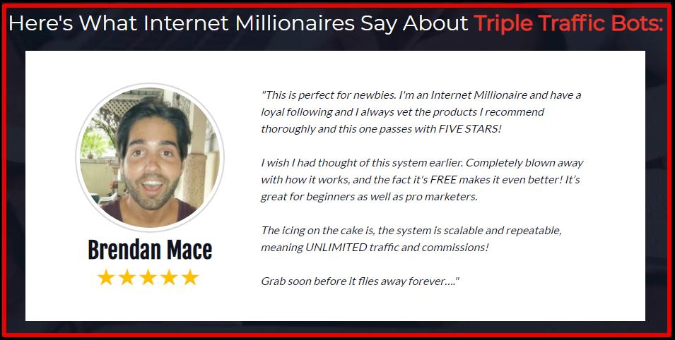 triple traffic bot review brendan mace
