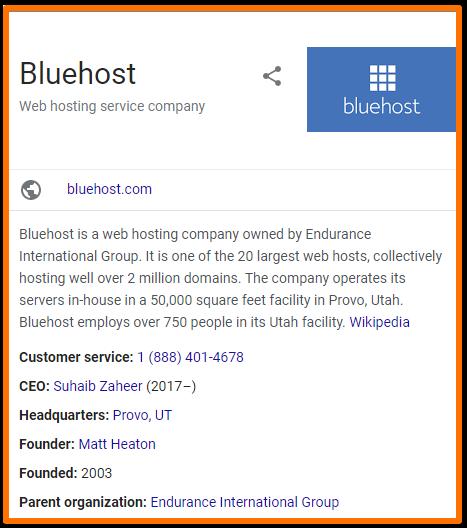 BlueHost company info