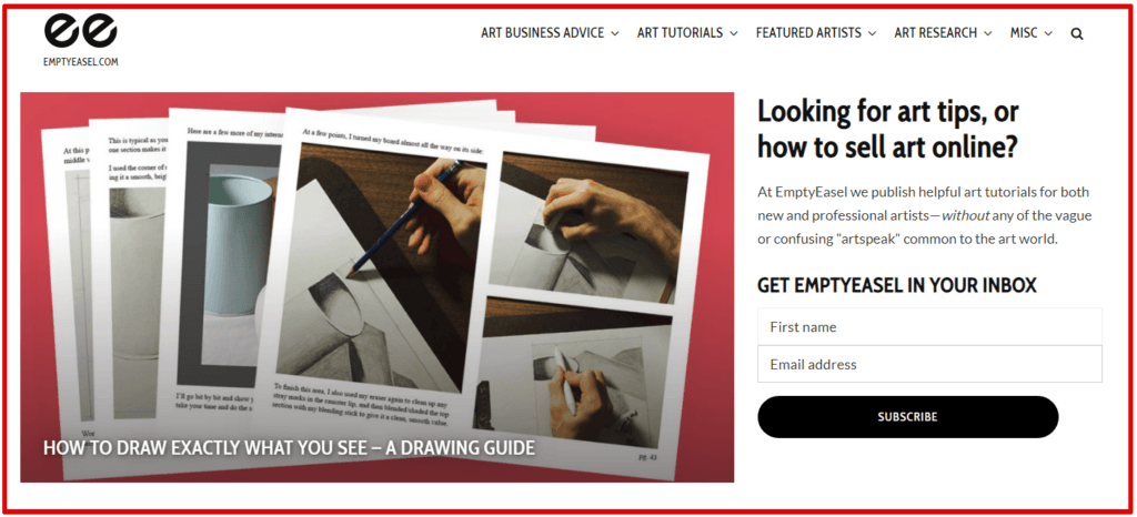 art blog site