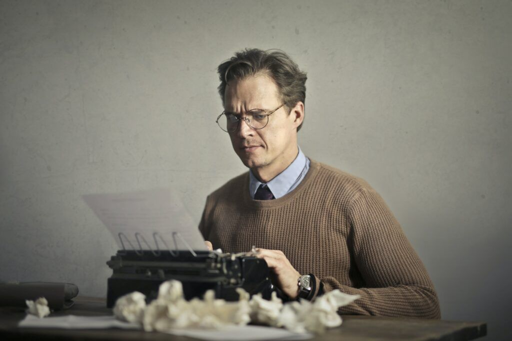 writer at typewriter