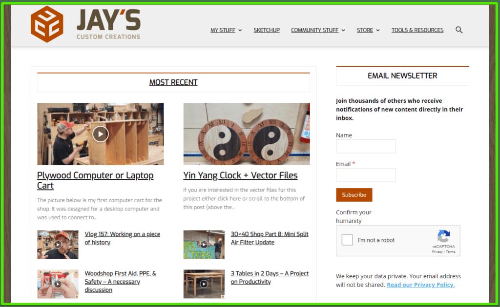 woodworking blog