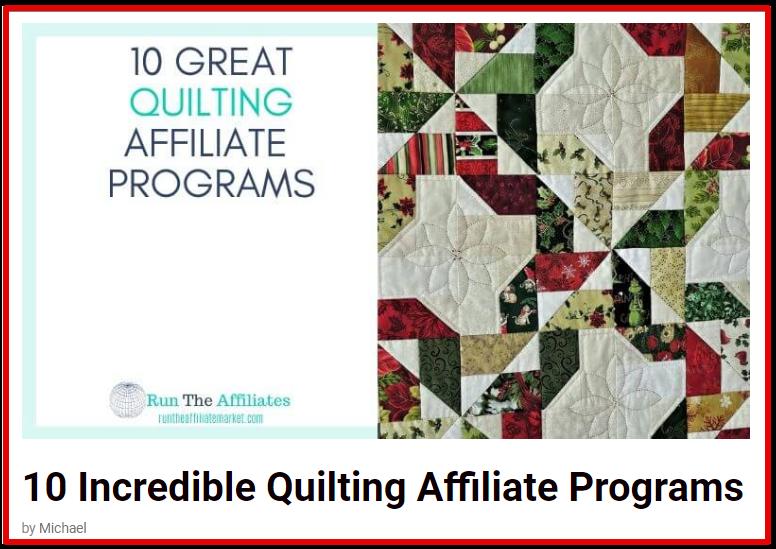 Quilting affiliate programs