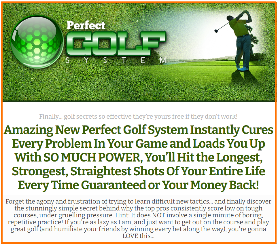 perfect golf system
