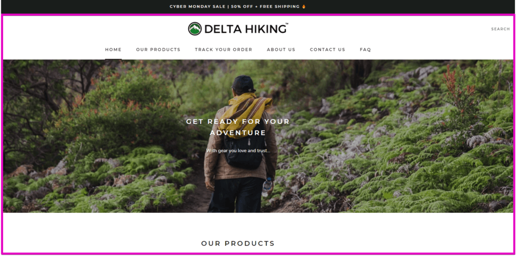 hiking - online hiking business