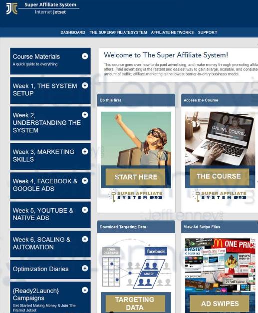 super affiliate system 2.0 dashboard