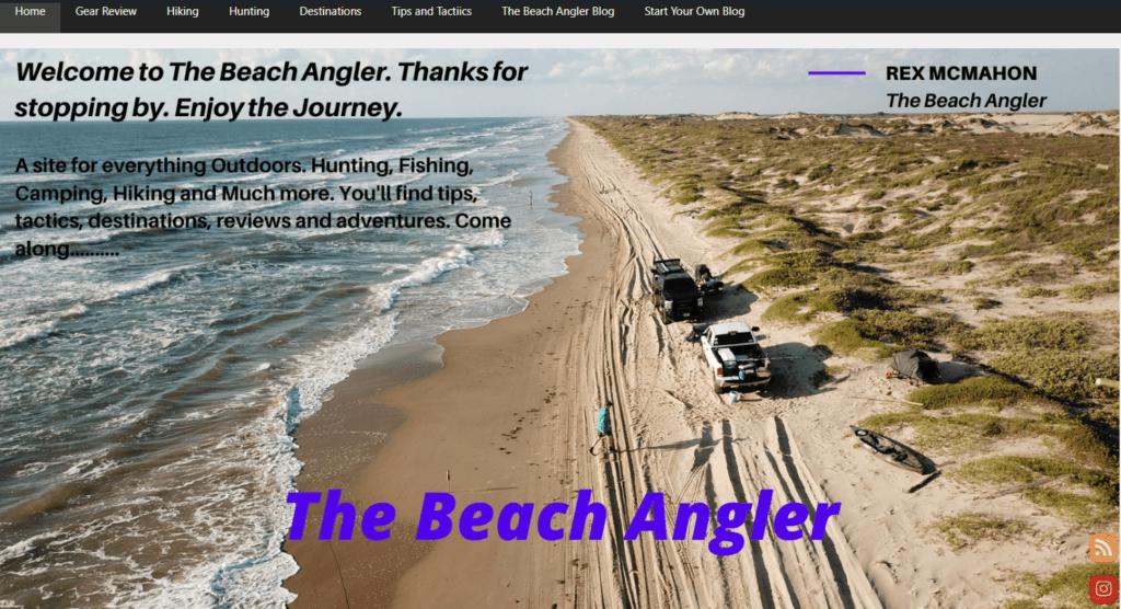 the beach angler website example
