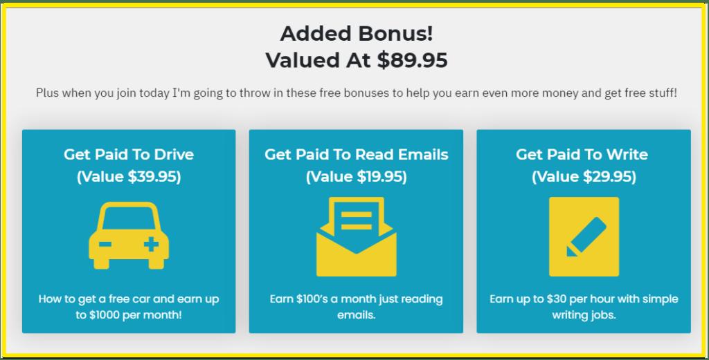 PaidSocialMediaJobs - bonuses