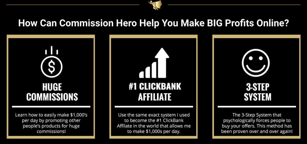 Commission Hero 3 steps