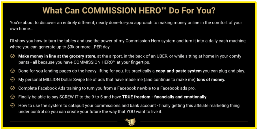 What can Commission Hero Do for you?