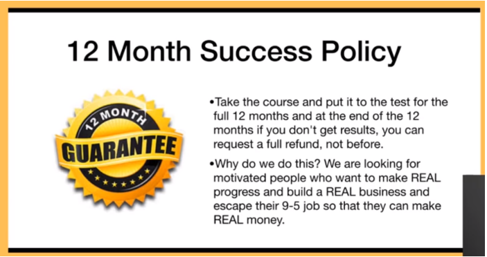Commission Hero 12 month Success Policy
