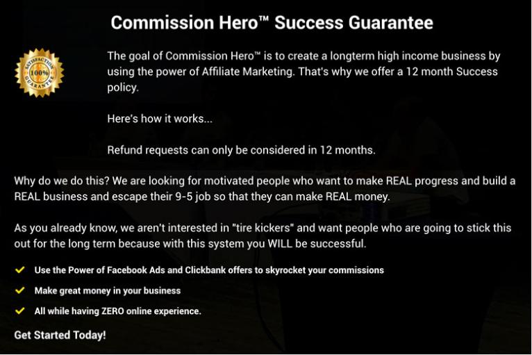 Commission Hero Guarantee