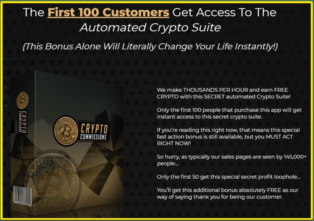 Crypto Commissions Crypto Suite bonus