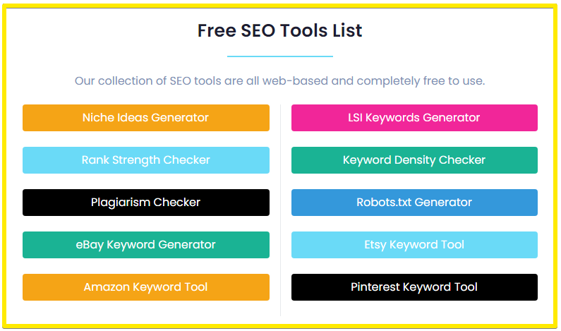 KeySearch free SEO tools