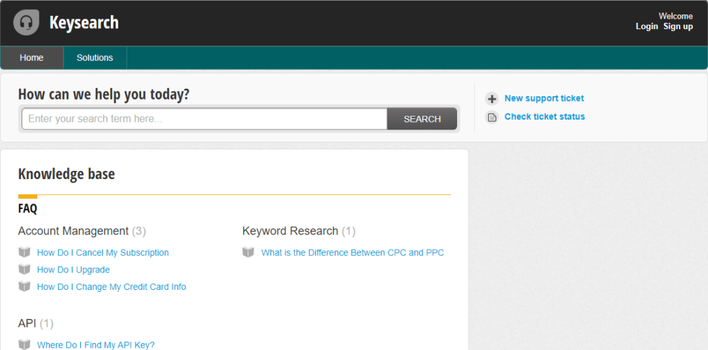 KeySearch Online Support
