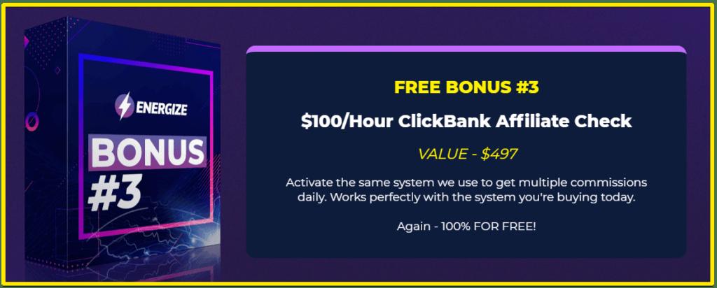Energize $100 per hour clickbank bonus