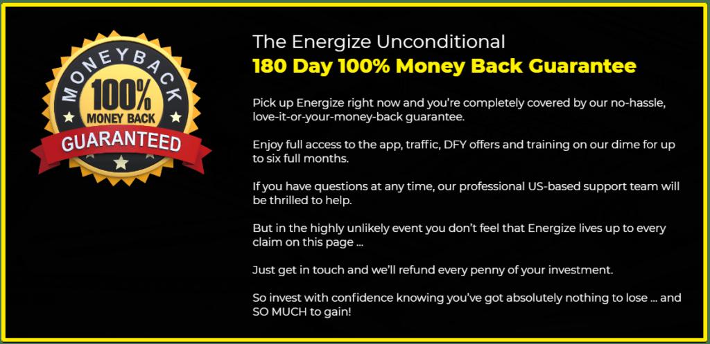 energize app 180 day guarantee