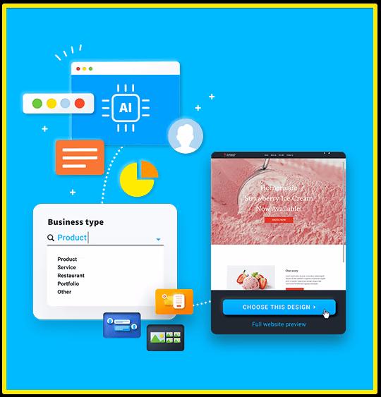GetResponse website builder using AI technology
