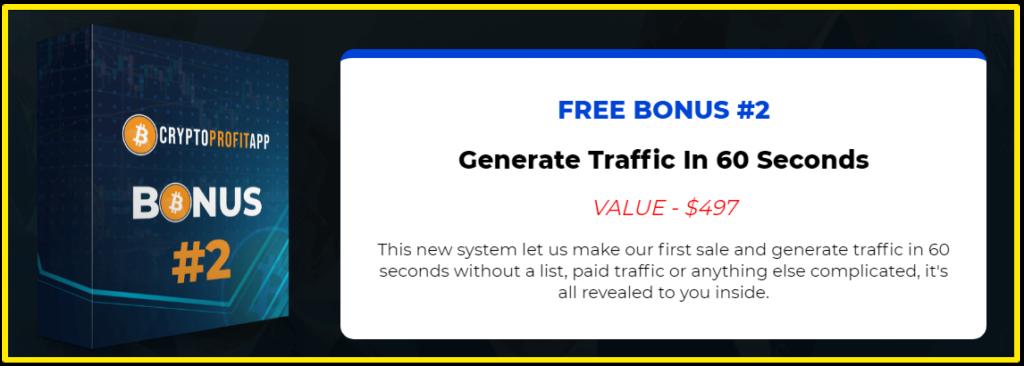 CryptoProfit App Bonus #2 - Traffic in 60 seconds