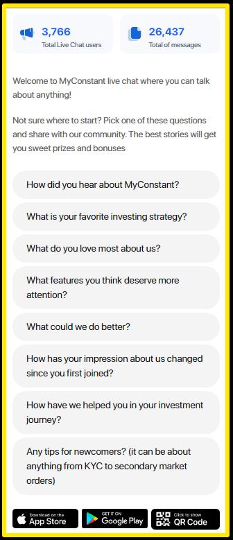MyConstant live chat service - MyConstant Review