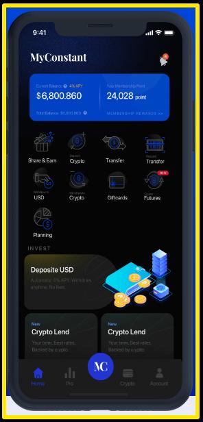 MyConstant Smart phone screen example - MyConstant Review