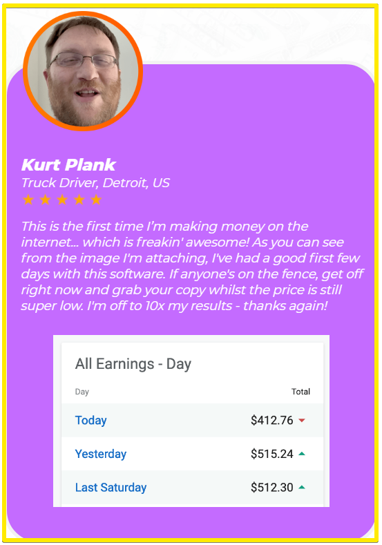 NeoCommissions customer testimonial - Kurt Plank